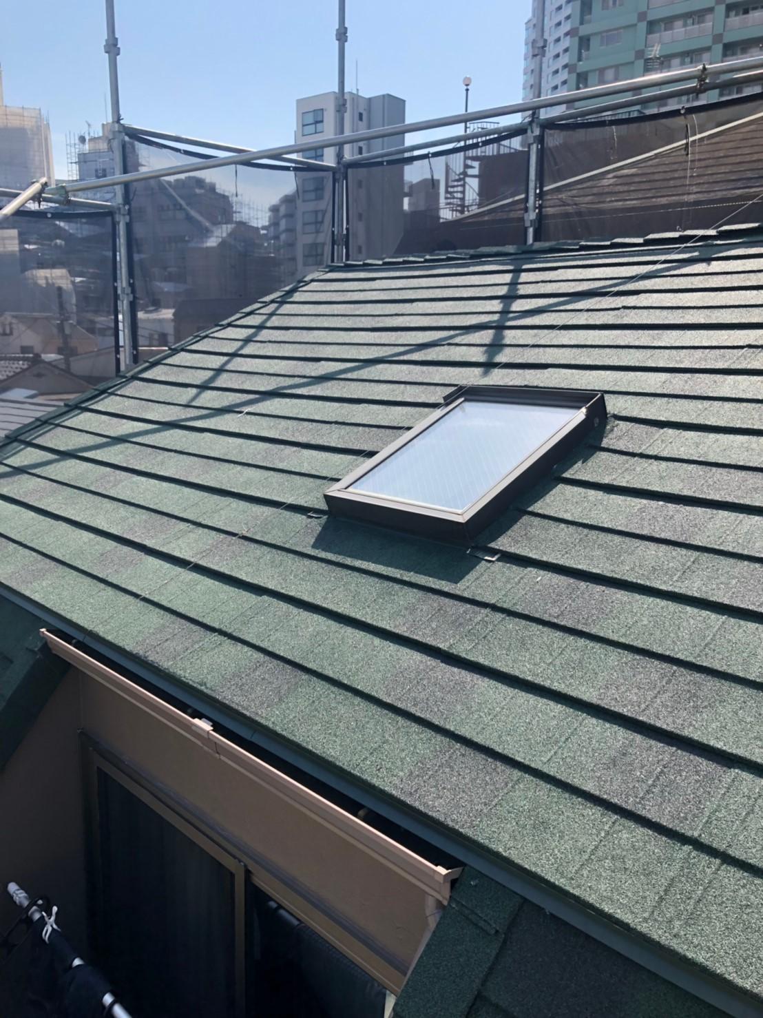 目黒区にて屋根修理 ~カバー工法~