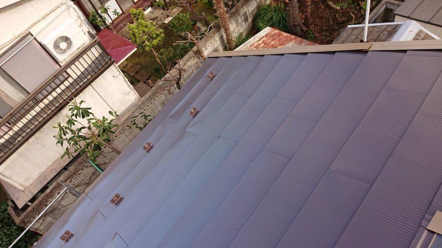 世田谷区にて屋根修理(瓦からガルバリウムへの葺き替え)