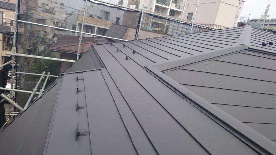 中野区にて屋根上葺き工事